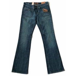 Vigoss Jeans Boot Cut Blue Dark Denim New